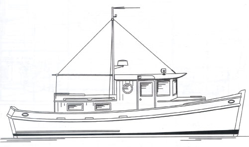 Redwing 34 Tug - Tugboat/ Yacht - Boat Plans - Boat Designs