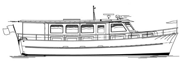 classic Trumpy yacht style. She was originally designed as a tender ...