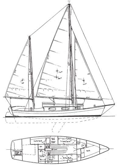 BAHAMA MAMA - Shallow Draft Sailing Yacht - Boat Plans - Boat Designs