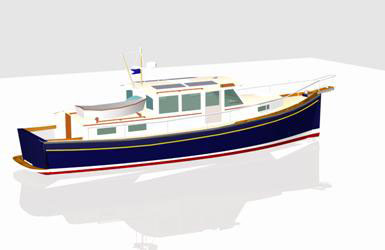 Electric Boat Plans and Yacht Designs -- Chesapeake Marine