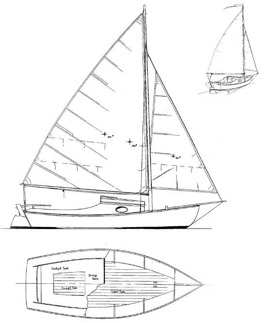 Meadow Bird - Daysailer/Camp Cruiser - Boat Plans - Boat Designs