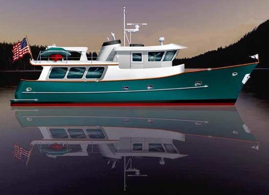 Offshore 58 Trawler - Power Cruiser/Trawler - Boat Plans - Boat Designs