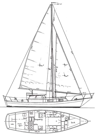 PILOTHOUSE CUTTER - Sailing Cutter - Boat Plans - Boat Designs