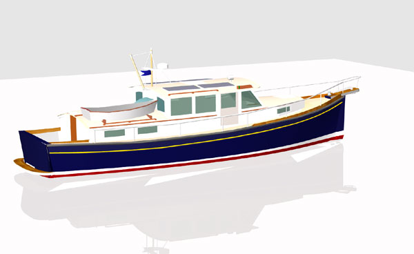 Redwing Hybrid 40 - Power Cruiser/Trawler - Boat Plans - Boat Designs