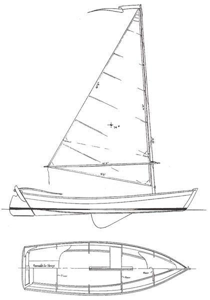 sailing skiff 15 - daysailer - boat plans