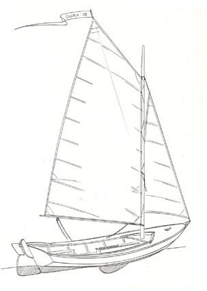Dory Boat Drawing Sailing dory 18