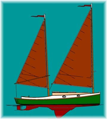 Sharpie 36 - Sailing Cruiser - Boat Plans - Boat Designs