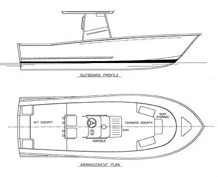 Sportfish 26 - Power Boat/Convertible/Center Console - Boat Plans - Boat Designs