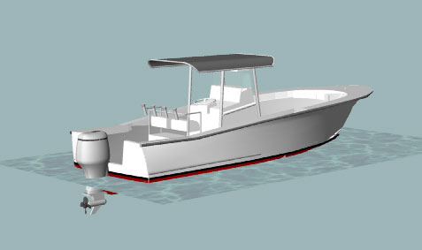 Sportfish 26 - Power Boat/Convertible/Center Console - Boat Plans - Boat Designs