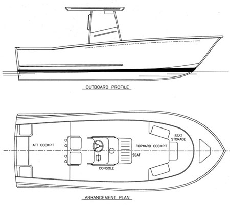Sportfish 24 - Power Boat/Convertible/Center Console - Boat Plans ...