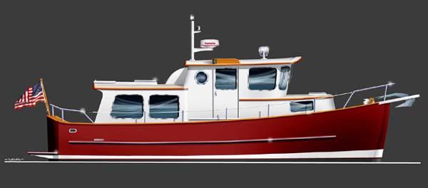 Trailer Trawler 28 - Power Cruiser/Trawler Yacht - Boat Plans - Boat