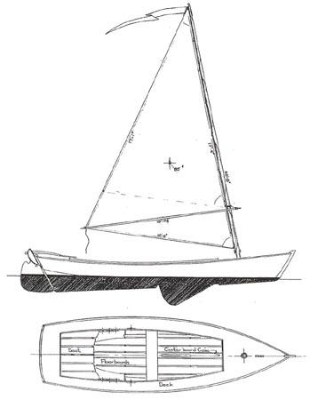 WINDWARD 17 - Daysailer/Beach Cruiser - Boat Plans - Boat Designs